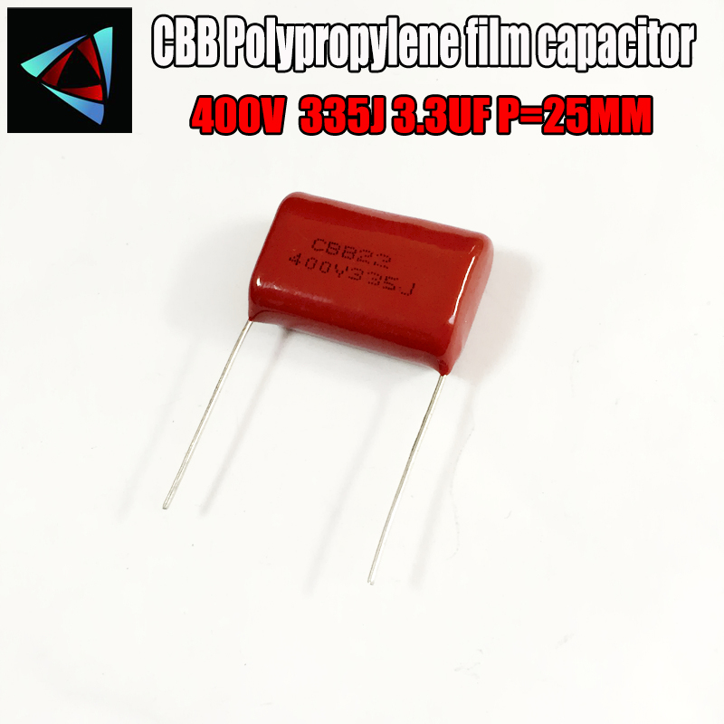 2PCS 400V 335J 3.3UF P=25 Polypropylene Film Capacitor Pitch 25mm