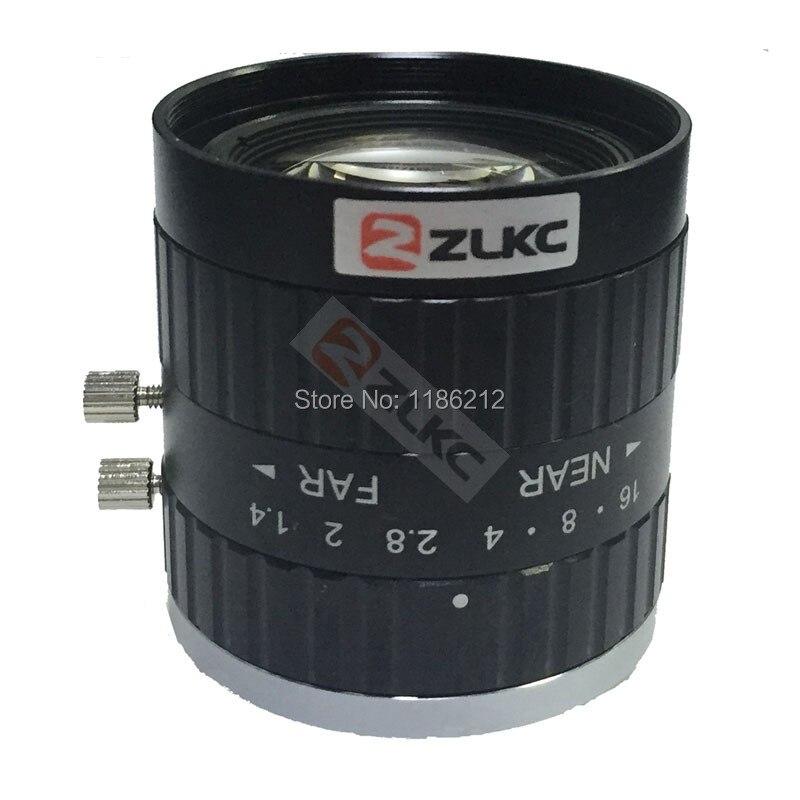"""bilder für 5 Mega Pixel C-mount 12mm 2/3 """"FA/Maschine Vision feste brennweite linsen industriekamera manuelle Iris Objektiv"""