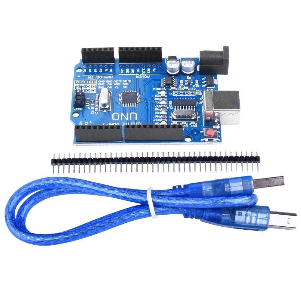 ARDUINO UNO R3 ATmega328P CH340G Development Board with USB Cable BLUE