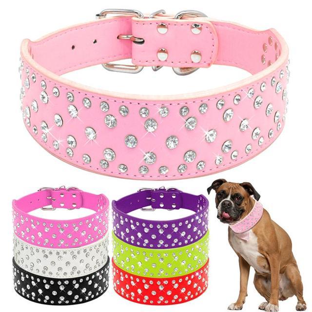 Di modo Jeweled Strass Collari Per Cani Pet Sparkly Diamanti di Cristallo Con Bo