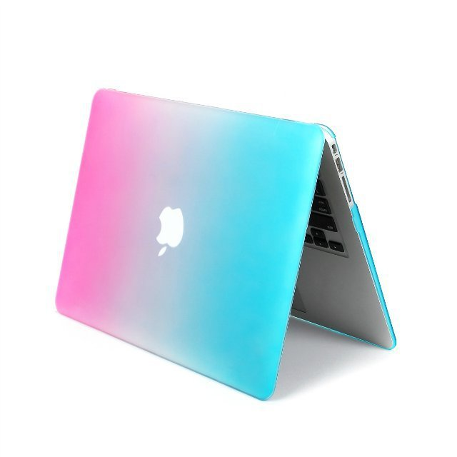 Keyboard Cover Screen Protector Rainbow Blue Pink Color Grant Mix Colors Matte Laptop Case For Macbook Air 13 3 In Bags Cases From