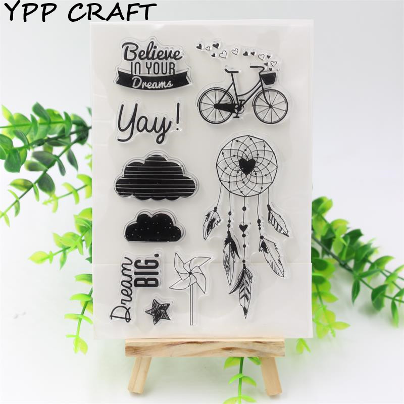 Ypp craft 1 sheet diy transparent clear rubber stamp seal for Custom craft rubber stamps