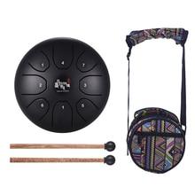 5,5 дюймов камер Мгновенной Печати Mini 8 тон Сталь язык барабан C Ключ ударный инструмент ручной сковорода барабан с барабанные палочки сумка для переноски