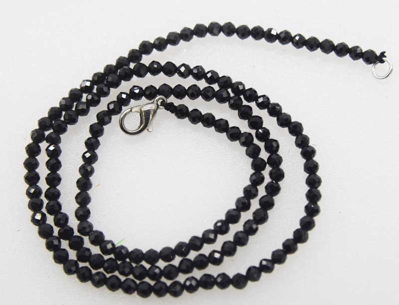 black spinel round faceted 3mm 16inch FPPJ wholesale beads nature choker necklaceblack spinel round faceted 3mm 16inch FPPJ wholesale beads nature choker necklace