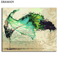 Framless Painting By Numbers DIY Oil Painting Hand Painted On Canvas Art 40 50cm Abstract Ballet