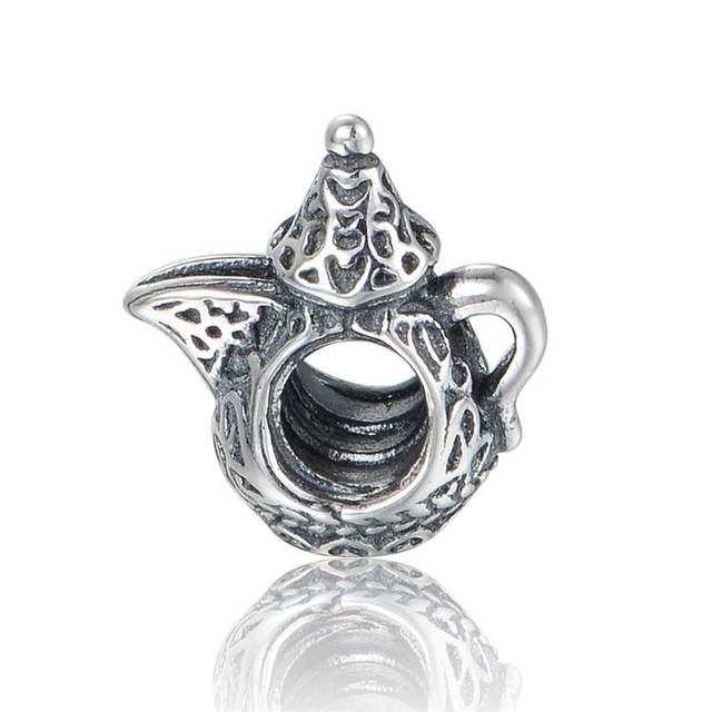 ca6b7a71b New Arabian Coffee Pot Charm 925 Sterling Silver Jewelry Wholesale Suitable  for Pandora Style Charm Bracelets & Necklaces LW627