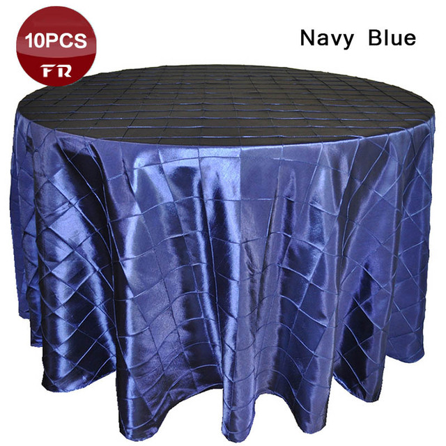 Best Sale 10pcs Lot Cheap Table Linen 132 Polyester Taffeta Pintuck Table Cloth Oval Table Runners For Wedding Party Home Decor In Tablecloths From