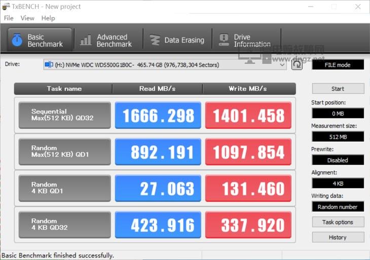 西数NVMe固态硬盘 蓝盘SN500测评12