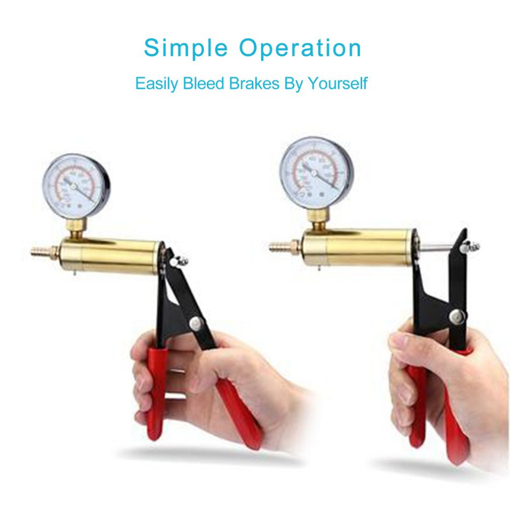 Hand Held Vacuum Pump Tester Set And Brake Bleeder Kit Car Motorbike Self Vacuum Pump Screw Adapter With Vacuum Gauge