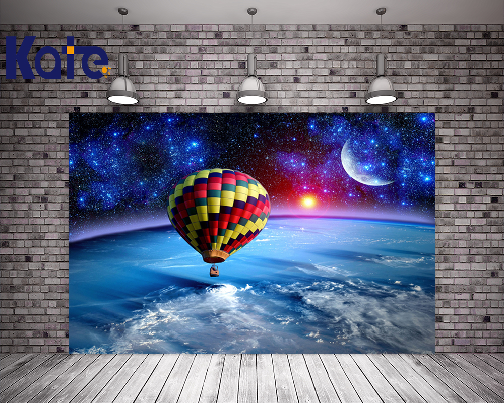 Kate Space Background Hot Air Balloon Backdrop Wedding Starry Sky Photo Background Photography Children Background
