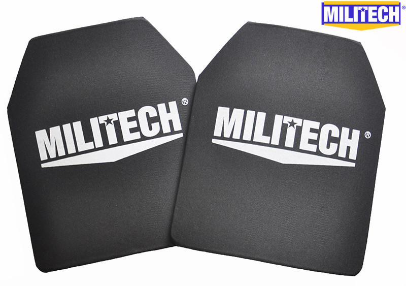 MILITECH 10 x 12 inches Two PCs Pair Ultra Light Weight UHMWPE NIJ IIIA 3A Tested Bullet proof Bulletproof Backpack Panel militech nij iiia lvl 3a rated steel bulletproof insert nij level 3a bulletproof backpack panel student bag bullet proof panel