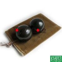 2 teile/satz Großhandel und Einzelhandel Traditionelles Akupunktur-massage-werkzeug/Natürliche Bian Stein/Fitness ball/Massager/Verschrottung
