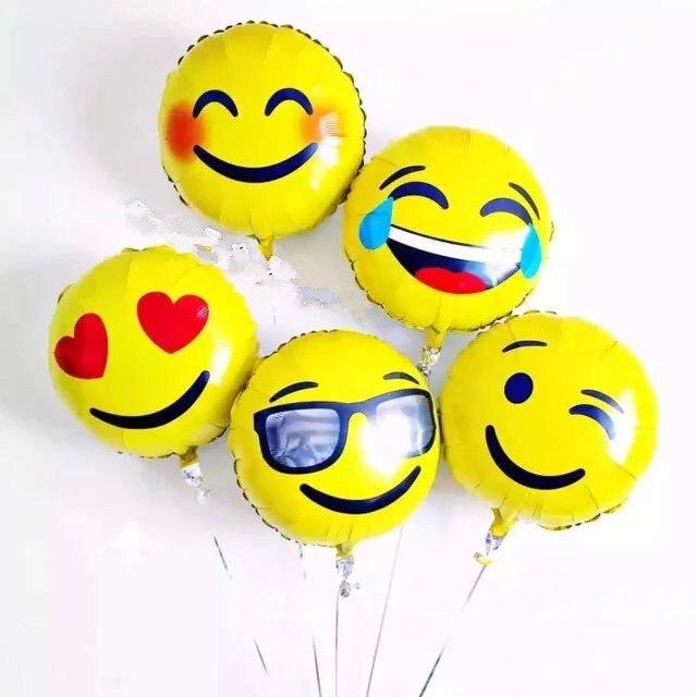 2 Teile Los Neue 18 Inch Runde Folienballon Liebe Augen Emoji Fur