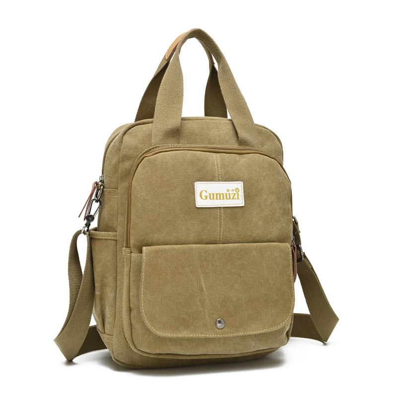 Canvas Bag Practical Backpack Suitable For Women's Dual-shoulder Single Shoulder Bag With Adjustable Shoulder Strap Retro