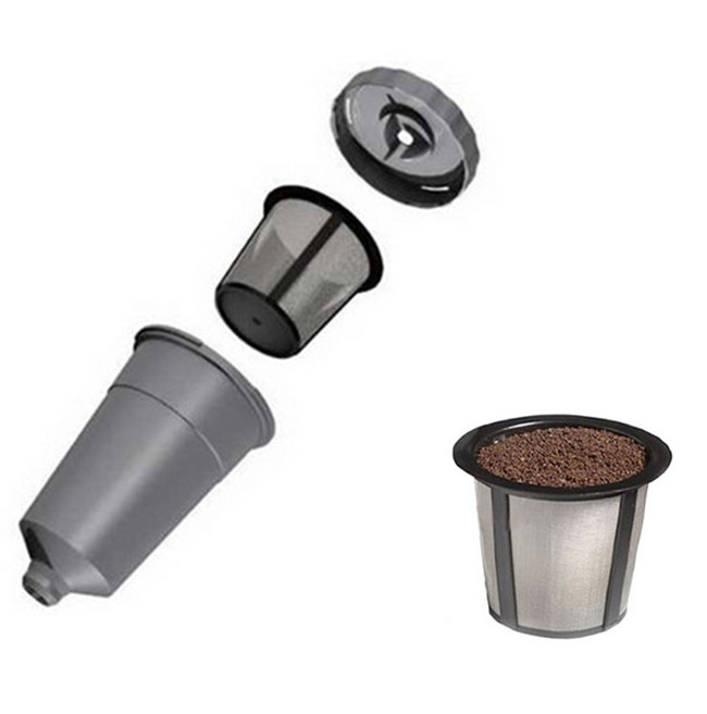 Coffee Filter cup 3-in-1 Replacement coffee Filter Baskets food grade PP strainers coffee & tea tool free shipping Q-269