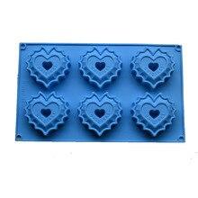 Silicone cake mold heart shape soap making DIY silica gel