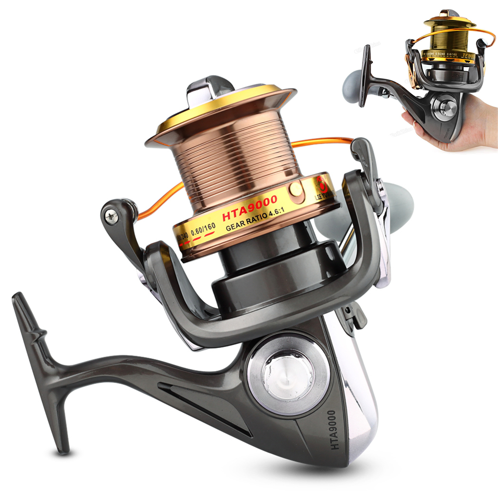 9000 Série 12 + 1BB 4.6: 1 moulinet de pêche Full Metal CNC Culbuteurs Mer Long Shot Type Ligne roue de pêche