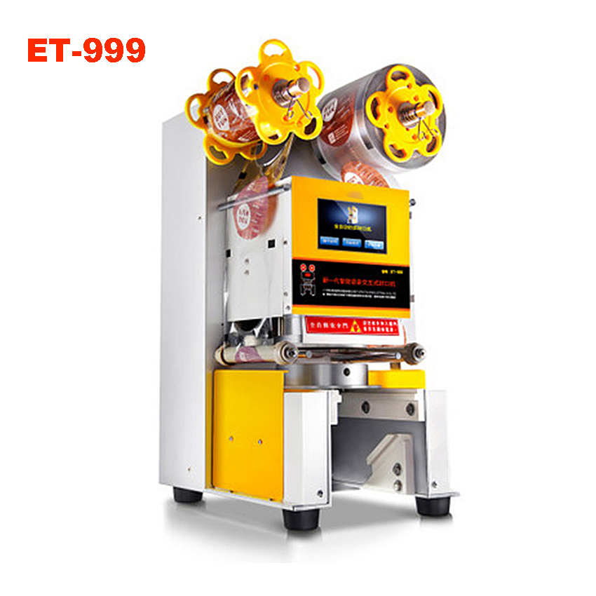 ET 999 automatic high quality professional design cup sealer cup sealing of industrial machine for small businesses 110V and220V