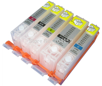 1 Sets 5Piece Empty Refillable Cartridge For Canon PGI550 CLI551 With Arc Chip