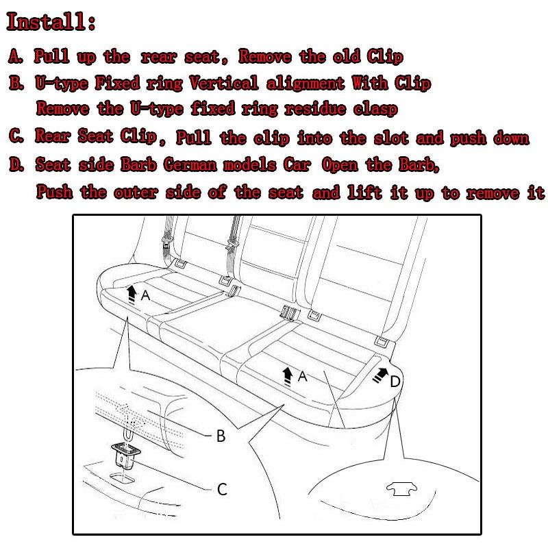 2 шт. подушка для заднего сиденья, зажим для заднего сиденья, фиксаторы для Mazda 3 CX5 CX7 Mazda 6
