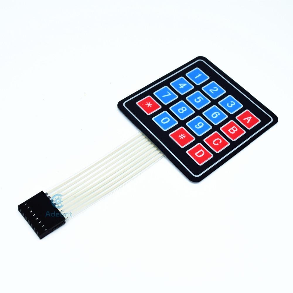 Adeept Uusi Adeept 16 Key Membrane Switch Keypad Näppäimistö 4 x 4 - Smart electronics - Valokuva 2
