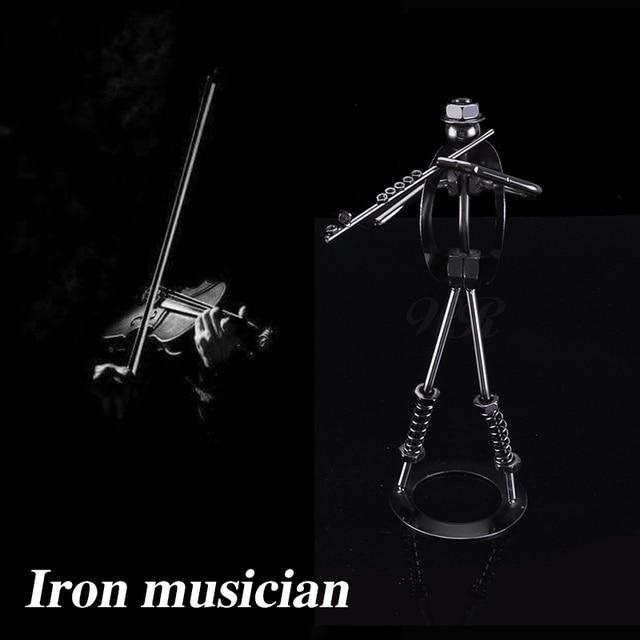 Antike Eisen Flöte Player Figur Handgemachte Muttern Und Schrauben