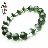 Natural green ghost bracelet Men lucky crystal identification certificate