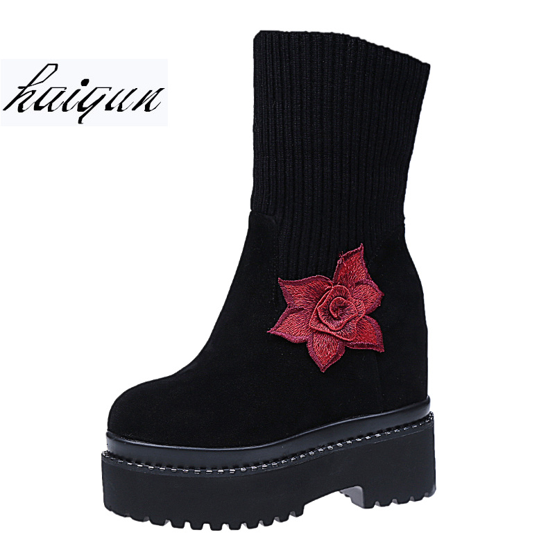 Brand Snow Boots Winter Ankle Boots Women Shoes Fur Warm Boots Female Casual Shoes Platform Slip On Flat Comfort Booties winter 2016 womens boots big size handmade rhinestone studded flat shoes woman platform faux fur snow boots casual ankle booties
