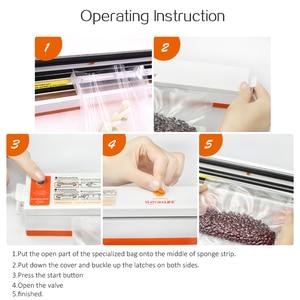 Image 5 - Vacuum Sealer Packaging Machine 220V/110V Household Food Vacuum Sealer Film Sealer Vacuum Packer Including 15Pcs Bags