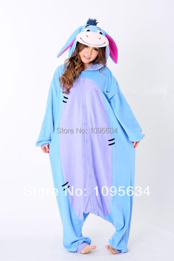 free shipping Eeyore Donkey onesie Animal Pajamas Adult Anime Unisex Onesie Sleepwear