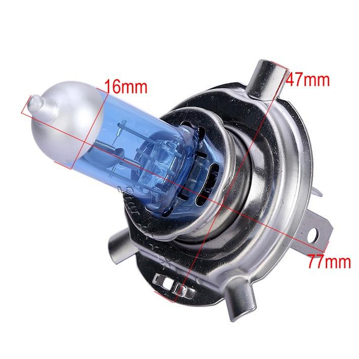H4 55W 60W Halogen 6000K բարձր ցածր ճառագայթային - Ավտոմեքենայի լույսեր - Լուսանկար 2