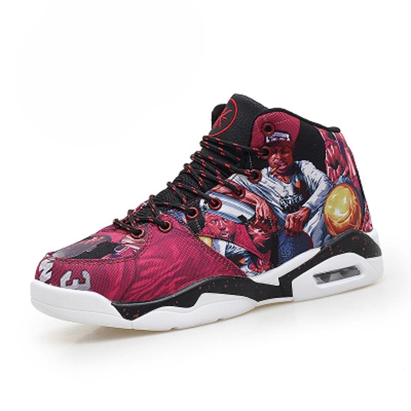 Merk 2016 Heren Basketbalschoenen Ademende Sportschoenen Dames Basketbal Zapatos Hombre Herfst Enkellaarzen Outdoor Sneakers