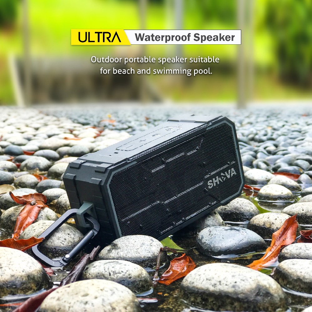 Wireless Bluetooth Speaker, Outdoor Portable Stereo Speaker, Built-In Dual Driver Speakerphone, Handsfree Calling, IPX6,SD Card