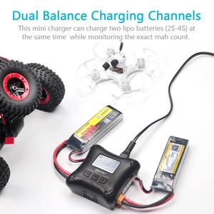 Image 4 - HTRC H4AC DUO 20W x2 2A x2 Mini Portable RC Charger 2 4s Lipo Battery Charging Dual Port