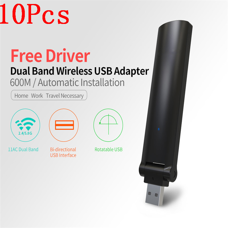 2017 New 10Pcs High Speed 600Mbps Mini USB Wireless Wifi Adapter Wireless LAN Network Card 802.11n/g/b WiFi Receiver Adaptador стоимость