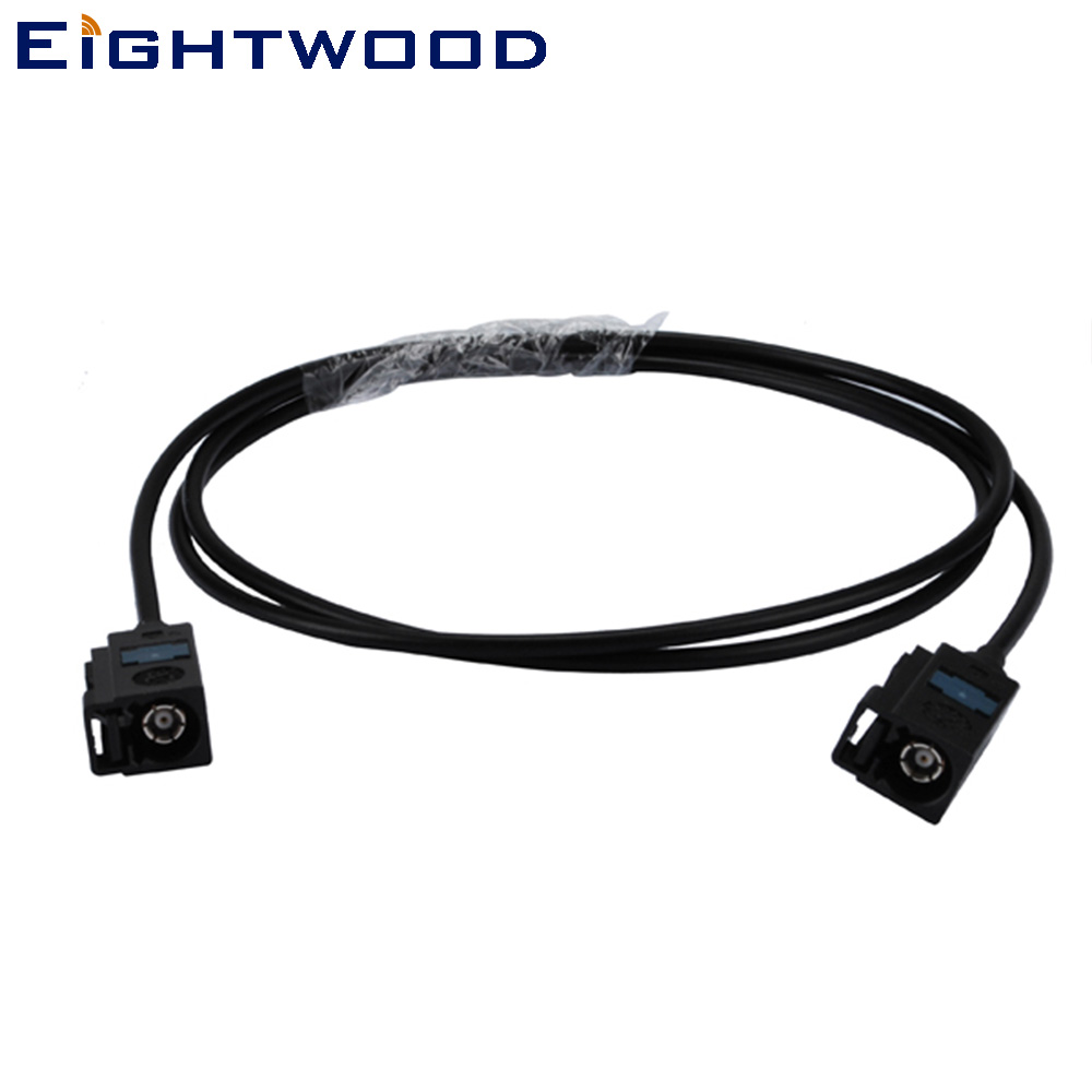 Eightwood Car DAB+ Radio Antenna <font><b>Adapter</b></font> Cable <font><b>Fakra</b></font> A Female to Female Pigtail Cable RG174 123cm for Car GSM <font><b>GPS</b></font> Wireless image