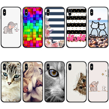 цена на Soft Silicone TPU Case Black Back Phone Cover for iPhone x Case Phone Shell for iPhone xr 6s 6 8 5s SE 7 Plus cases