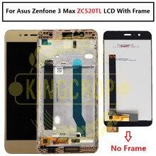 """Voor Asus Zenfone 3 Max ZC520TL Lcd Touch Screen Digitizer Vergadering Met Frame Vervanging 5.2 """"Voor Asus ZC520TL x008D Lcd"""