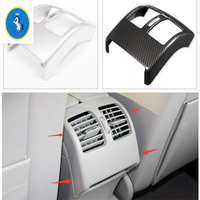Yimaautotrims Fit For Mercedes Benz C Class W204 2010 2013 ABS Armrest Box Rear Air Conditioning AC Vent Outlet Cover Trim
