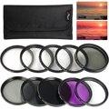 52mm Filter Kit Close Up Lens +1+2+4+10 ND2 4 8 for Nikon D7100 D5300 D800 LF137