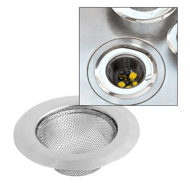 Elegant Nice Home Supplies Stainless Steel Mesh Kitchen Sink Sewer Convenient  Filter Barbed Wire Colander Sink Drainer Amazing Ideas