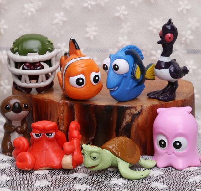 8pcs/<font><b>set</b></font> 4 <font><b>Finding</b></font> <font><b>Nemo</b></font> <font><b>Clownfish</b></font> <font><b>Dory</b></font> Action Figure Toys Collectible Models Mini Dolls Children's Day Gifts For Kids <font><b>PVC</b></font> Toy