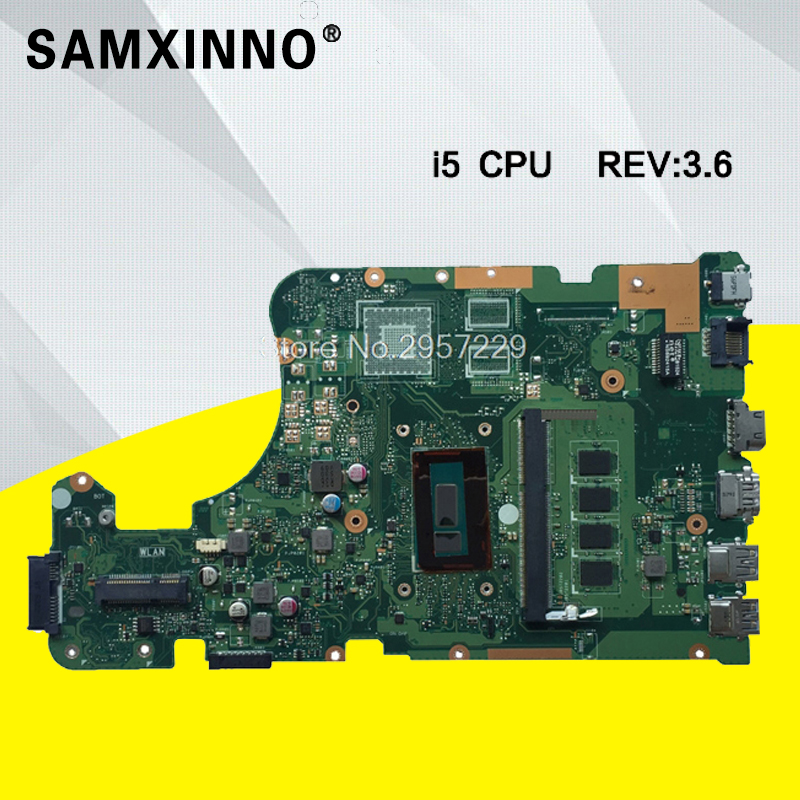 X555LD Motherboard I5-REV:3.6 For ASUS X555L W519L R517L A555L Laptop Motherboard X555LD Mainboard X555LD Motherboard Test Ok