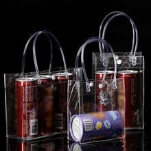 Портативный ПВХ герметичный Винный подарочный мешок прозрачный шампанское ледяной мешок портативный молочный чай для газированных напитков охладитель в разных размерах