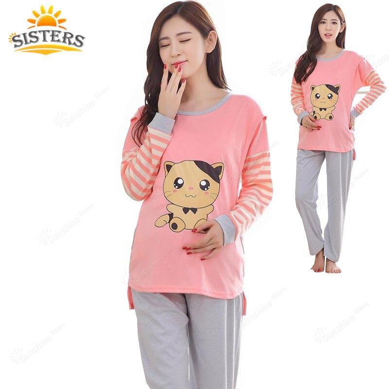 9ead7282db4 Pajamas Maternity Clothes Top Quality Nursing Clothes 2016 Summer Sleepwear  Pregnant Costumecotton Breastfeeding Mother XXL