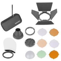 Neewer AK-R1 Round Head Flash Accessories Kit Compatible with V1-S/AD200/H200R Round Flash Light, Portable Magnetic Accessory