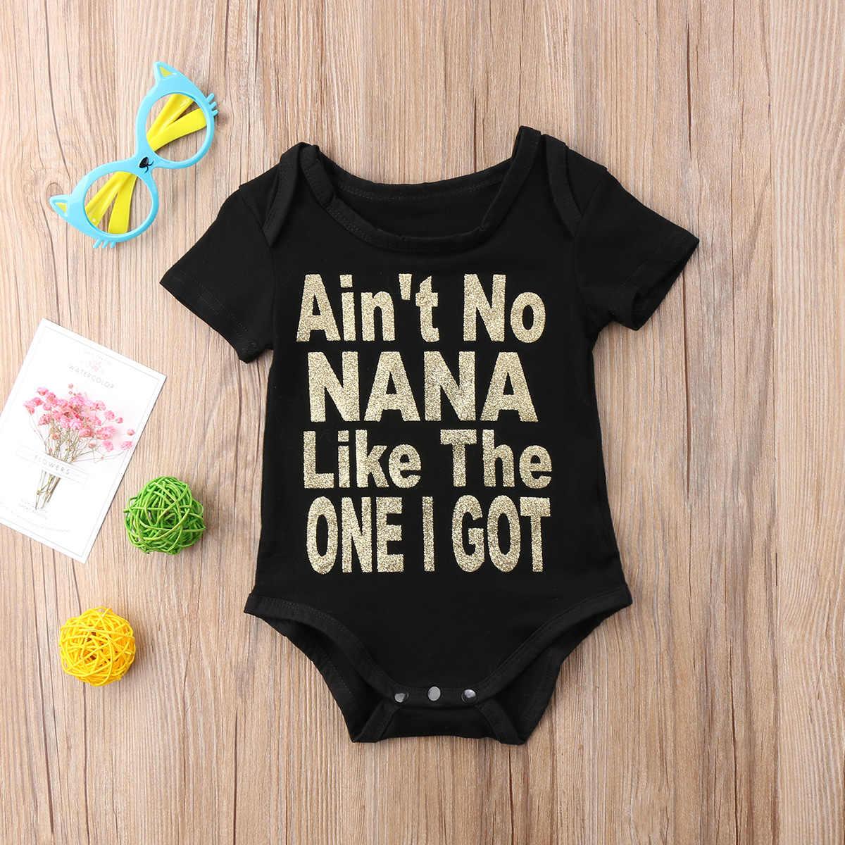 2020 Brand New noworodka maluch niemowlę dziewczynka chłopiec kombinezon Romper odzież codzienna krótkie rękawy stroje letnie jednoczęściowe ubrania
