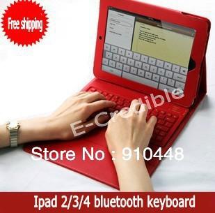 Prix pour Livraison gratuite sans fil bluetooth clavier avec étui en cuir PU Pour ipad2 le nouvel ipad 2 3 4