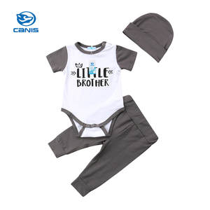 CANIS Hat Bodysuit-Pants Outfits Newborn-Baby Girl Infant 3pcs Fashion Trousers Tops