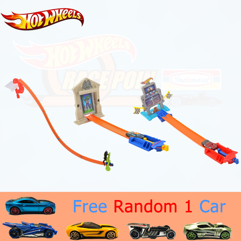 Genuine Mattel Brand Hot Wheels Car Track Set Easy Style Upgraded Version Hotwheels Car Track Model Bct35 For Kid Birthday Gift